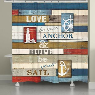 Burnham Nautical Anchor Inspiration Single Shower Curtain