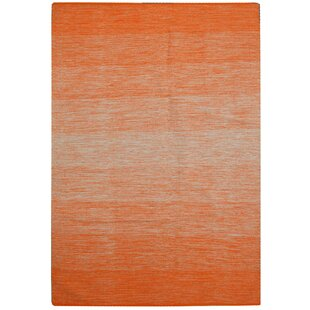 Denver Handwoven Cotton Orange Rug by Bakero