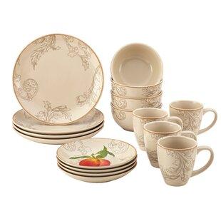 Stoneware Orchard Harvest 16 Piece Dinner Plate Set  sc 1 st  Wayfair & Diner Plates Sets | Wayfair