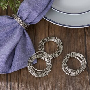 Olivera Layered Bangles Napkin Rings (Set of 4)