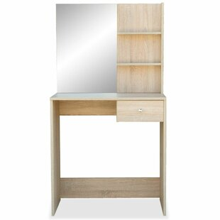 Yorkshire Dressing Table With Mirror By Mercury Row
