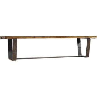 Live Edge Metal/Wood Bench..