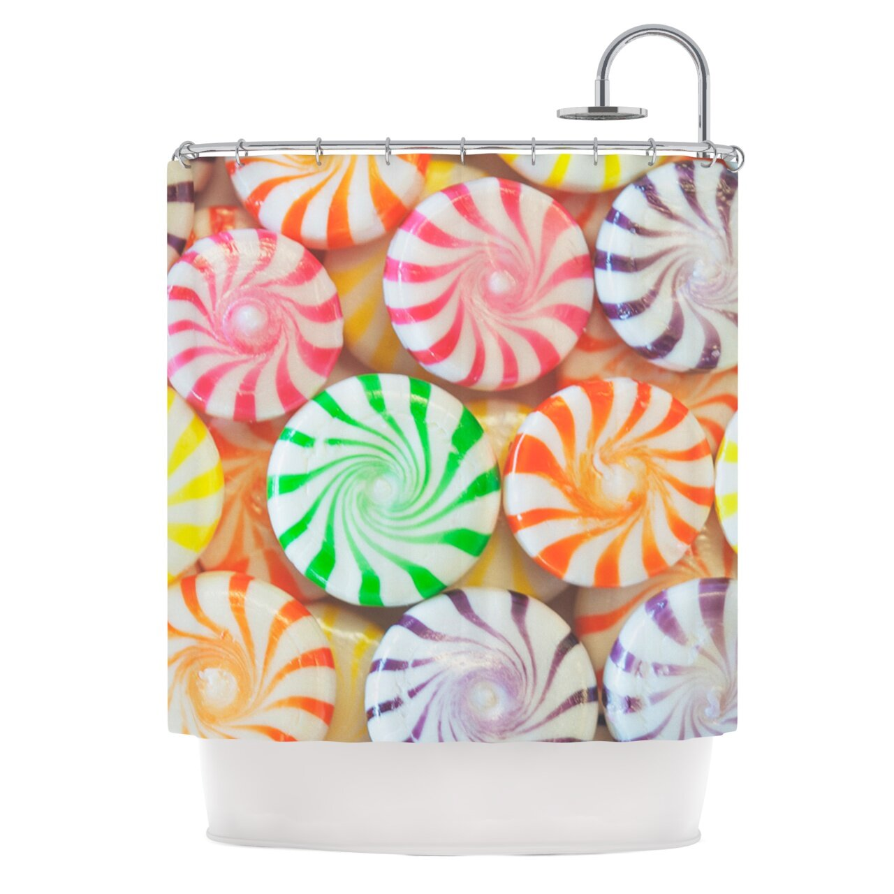 KESS InHouse I Want Candy Shower Curtain