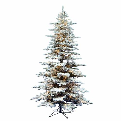 Künstlicher Weihnachtsbaum 137 cm Weiß mit 200 LED-Leuchten in Farbig/Weiß und Ständer Rushden Die Saisontruhe   Weihnachten > Weihnachtsbeleuchtung   Die Saisontruhe