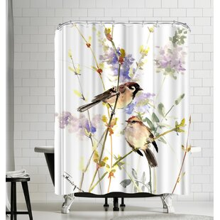Suren Nersisyan Sparrows in the Field Single Shower Curtain