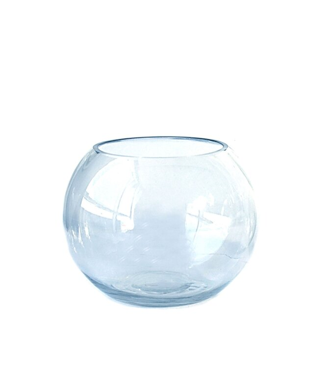 Red Barrel Studio Everts Round Gl Table Vase | Wayfair on