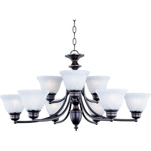 Look for Barrett 9-Light Shaded Chandelier By Andover Mills
