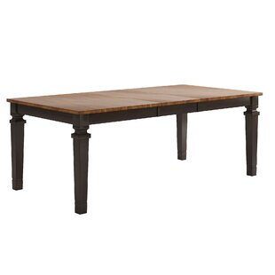 Terrones Extendable Solid Wood Dining Table Charlton Home