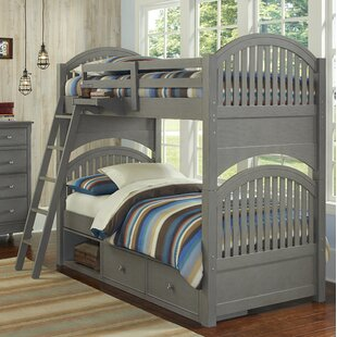 Nickelsville Twin Over Twin Bunk Bed with Storage by Three Posts