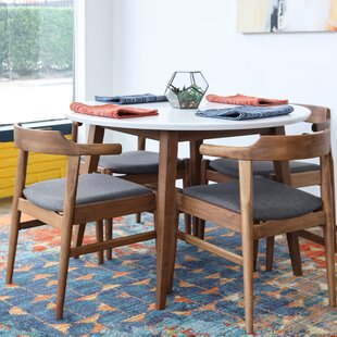 Carlsen 5 Piece Solid Wood Dining Set George Oliver