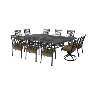 Oakland Living Morocco Aluminum 11 Piece Dining Set with Cushions