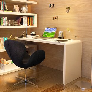 Waxman L-Shape Desk with Bookcase