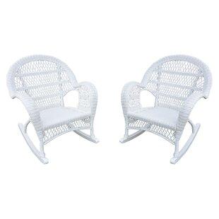 Wicker Rocker Chair (Set of 4) Jeco Inc.