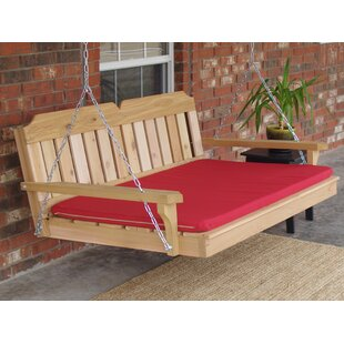 April Cedar Victorian 2 Points Porch Swing with Cushion by Loon Peak