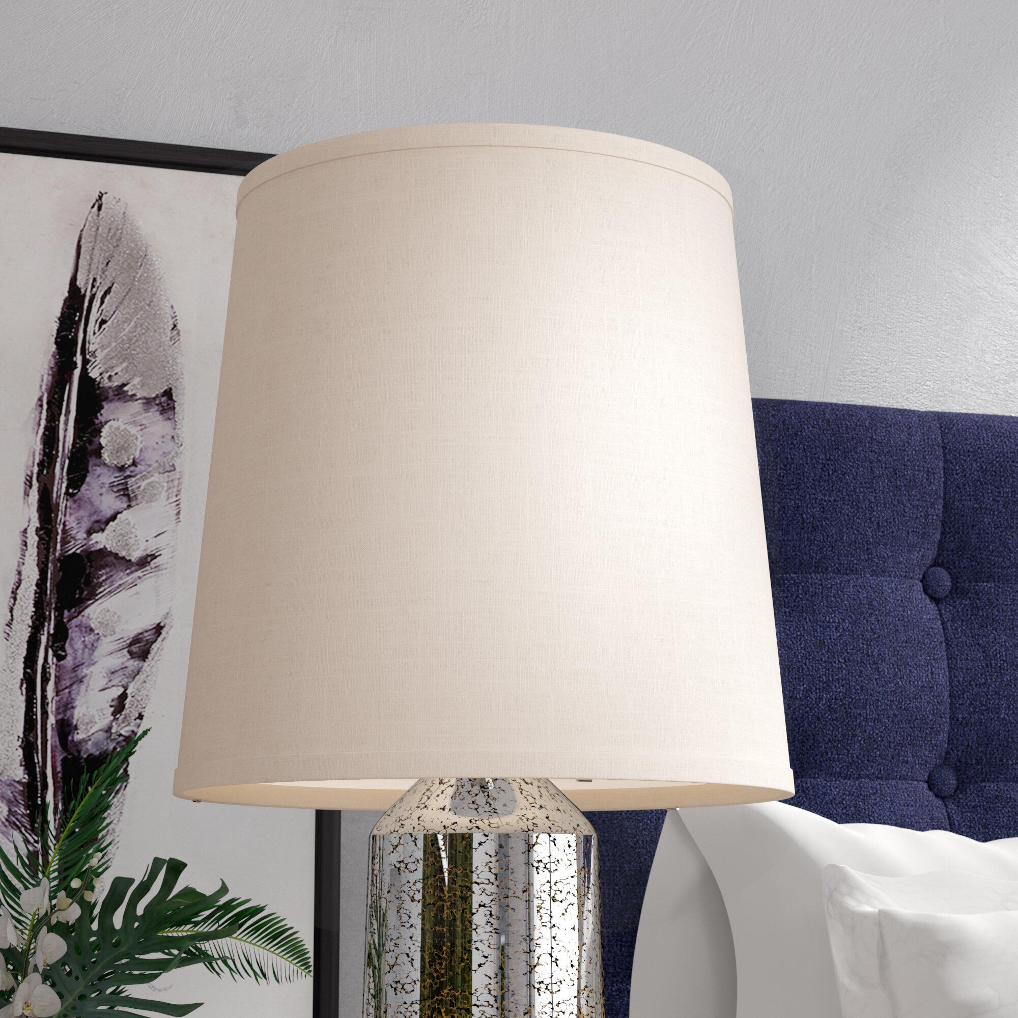 Latitude Run 16 H Linen Empire Lamp Shade Spider In Off White Wayfair