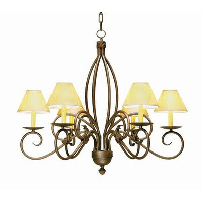 2nd Ave Design Squire 6-Light Shaded Chandelier Finish: Tuscan Ivory, Shade: Tuscan Alabaster