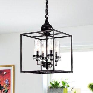 Estevan 4-Light Lantern Pendant by Charlton Home