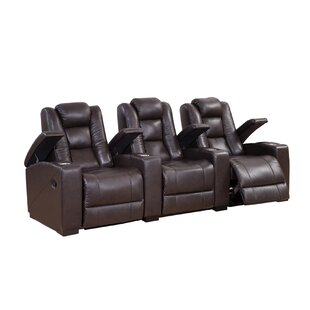 Red Barrel Studio Leather Home Theater Recliner