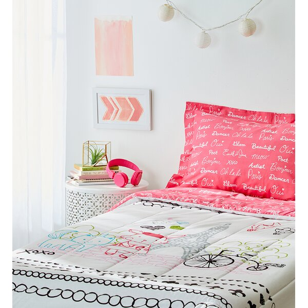 Teen Eiffel Tower Bedding Set Wayfair