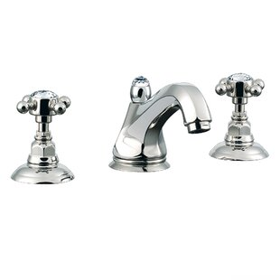 Rohl Country Widespread Bathroom Faucet with Cross Handle and Pop-Up Drain