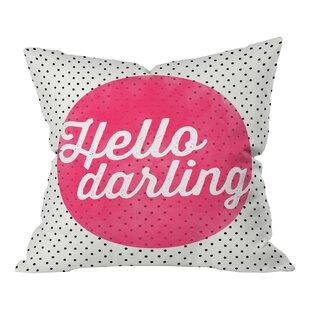 Batz Hello Darling Dots Throw Pillow