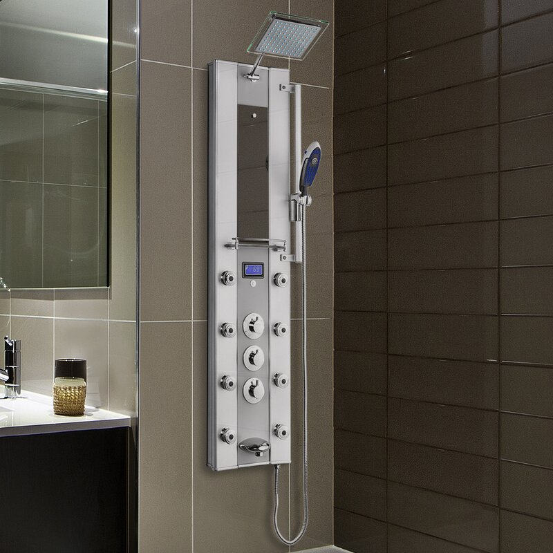 AKDY Thermostatic Tower Rainfall Shower Diverter & Reviews | Wayfair