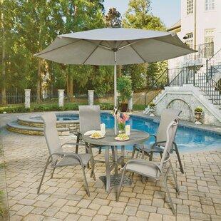 Red Barrel Studio Dinapoli 5 Outdoor Piece Dining Set with Umbrella