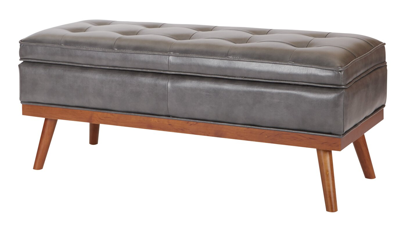 Superior Ronquillo Faux Leather Storage Bench