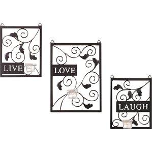 Live Love Laugh 3 Piece Black Wall Décor Set Part 63