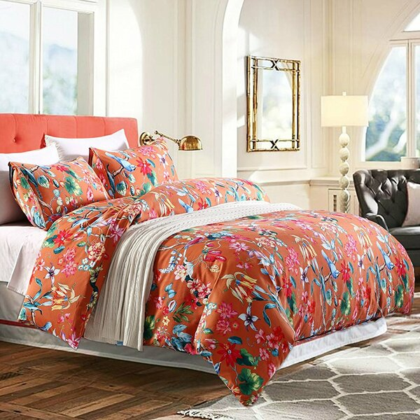 Good Sweety Pie Inc Tropical Floral Duvet Cover Set U0026 Reviews | Wayfair