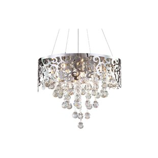 House of Hampton Corby Laser Cut 5-Light Crystal Chandelier