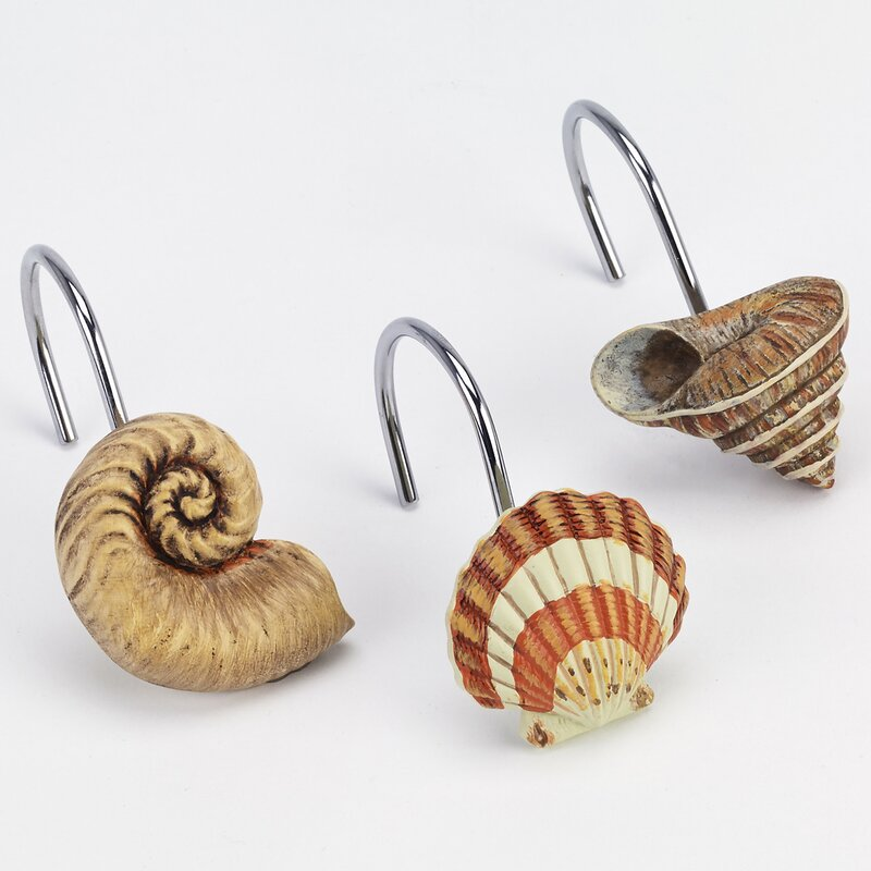 Seaside Vintage Shower Curtain Hooks