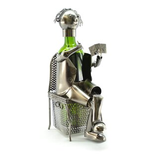Card Player 1 Bottle Tabletop Wine Rack b..