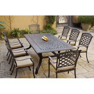 Conneaut 9 Piece Dining Set with Cushions