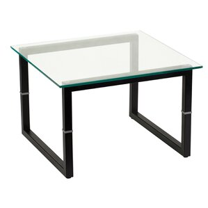 Glass End Table by Offex