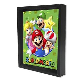 u0027Super Mario - Castu0027 Framed Graphic Art Print  sc 1 st  Wayfair & Super Mario Wall Art | Wayfair