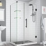 Bromley GS Frameless with Glass Shelves 40 x 72 Rectangle Hinged Shower Enclosure by Aston