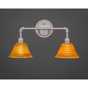 Williston Forge Kash 2-Light Amber Vanity Light