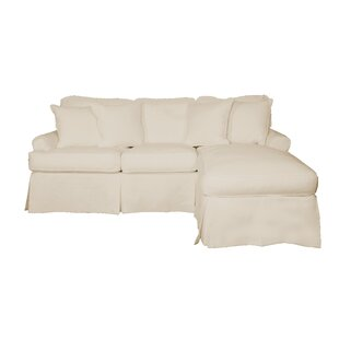Huguley T-Cushion Sofa and Chaise Lounge Slipcover