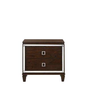Alfaro 2 Drawer Nightstand by House of Hampton