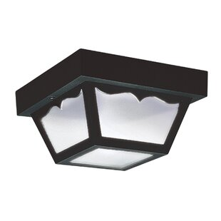 Finance 2-Light LED Outdoor Flush Mount by Highland Dunes