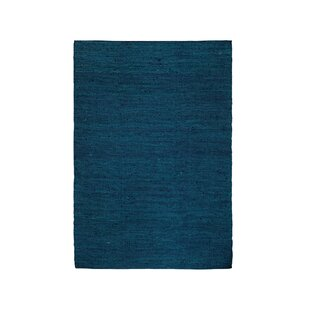 Jarod Handwoven Dark Blue Rug by Vivaraise