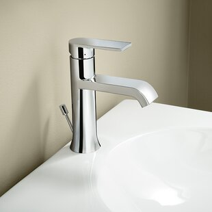 on hole vessel nickel single brushed pagosa waterfall faucet filler bathroom