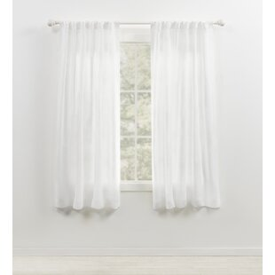 100 x 84 curtain panel linen wayfair engel sheer 100 linen rod pocket single curtain panel