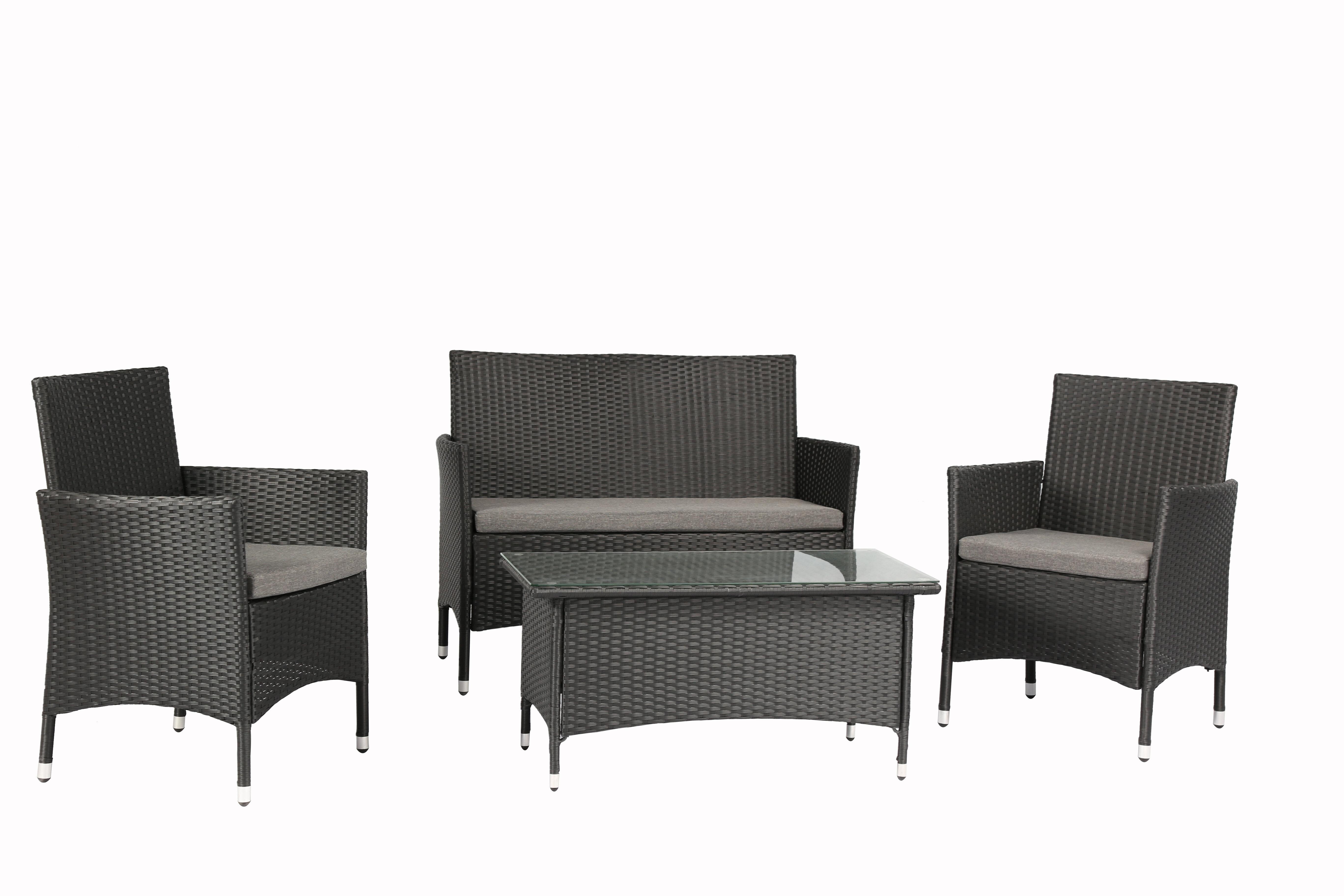 aedaf33ea7f9 Baner Garden 4 Piece Sofa Set with Cushions & Reviews   Wayfair