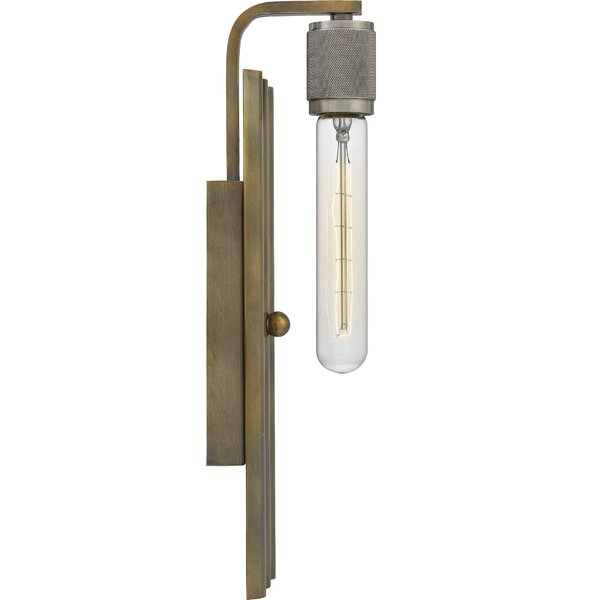 Lytham 1 - Light Dimmable Statuary Bronze Armed Sconce by 17 Stories