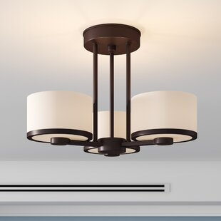 Curtin 3-Light Semi Flush Mount by Ebern Designs