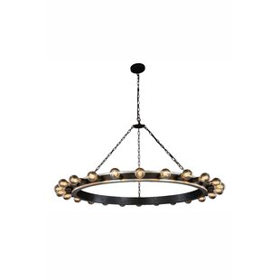 Fanetta 24-Light Wagon Wheel Chandelier b..