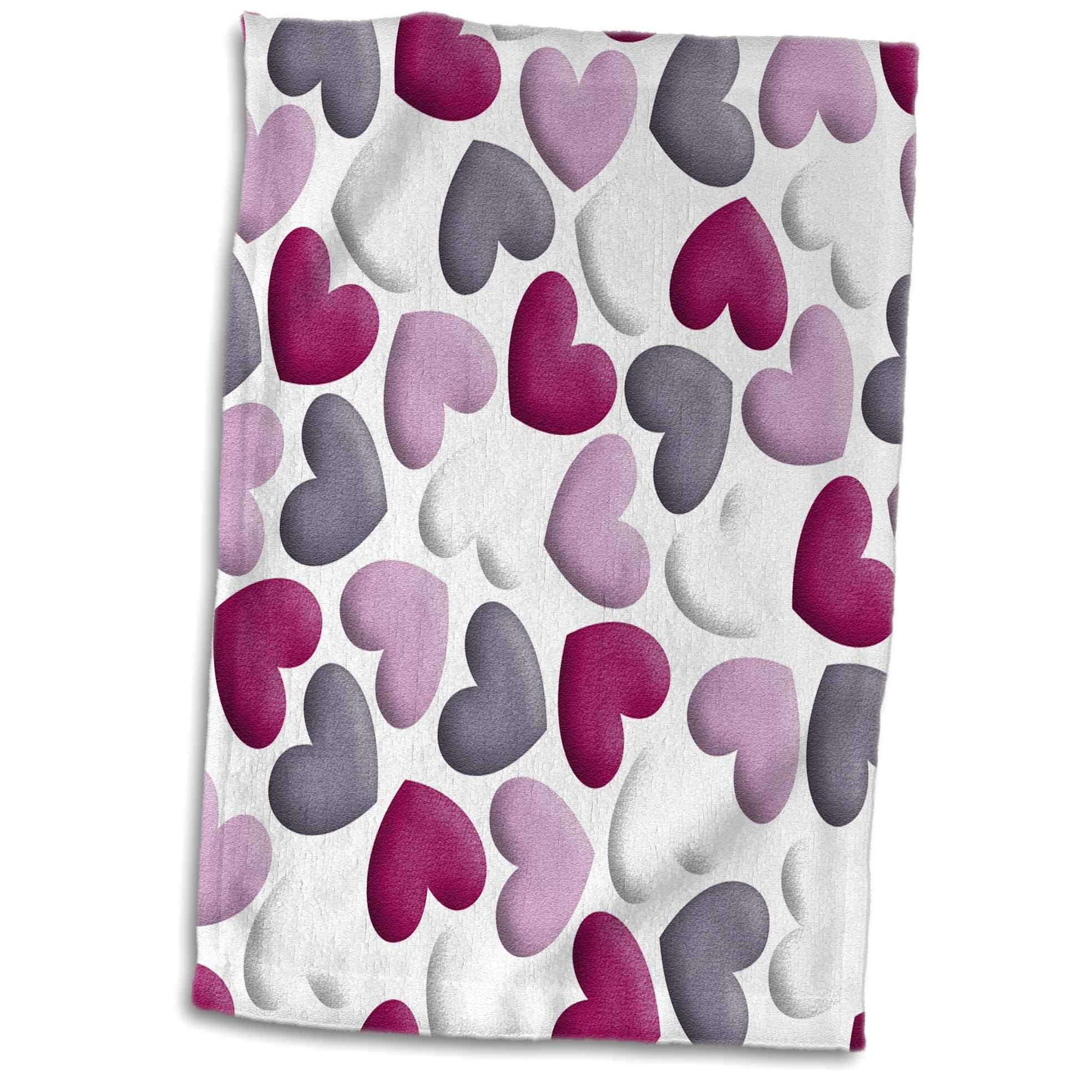 East Urban Home Nohemi Cute Tossed Hearts Hand Towel Wayfair
