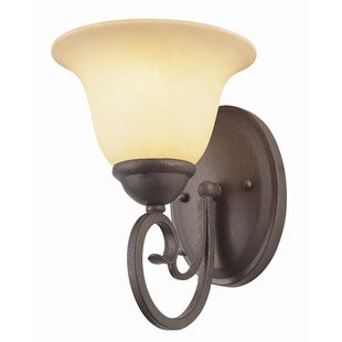 Best Reviews Blue Heron 1-Light Wall Sconce By Charlton Home